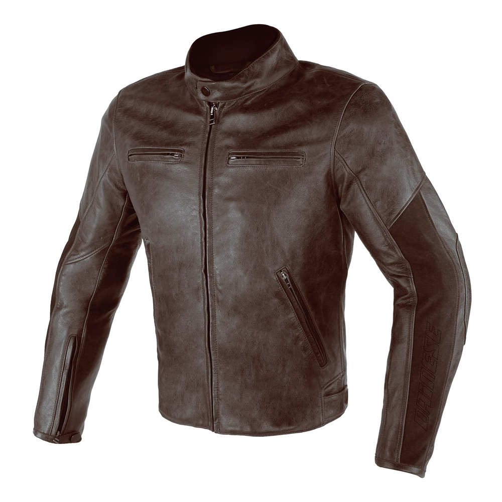 Alpinestars Leather Jacket >> Dainese Stripes D1 Leather Jacket – Dark Brown – M&S Motorcycles Shop Newcastle